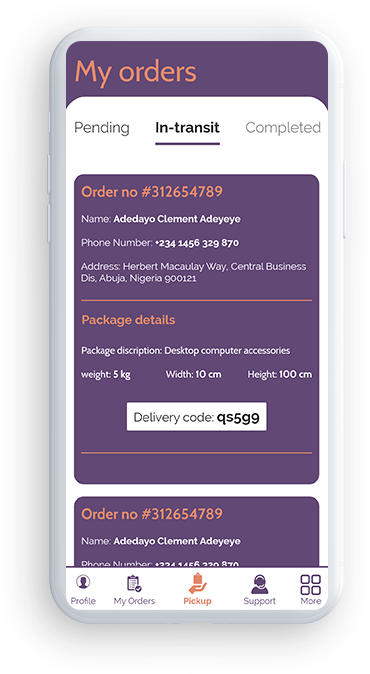 uber like courier delivery app